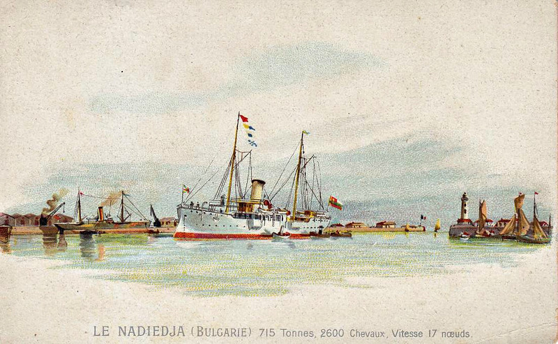 1898 to ???? - NADIEDJA - Torpedo Gunboat/Royal Yacht - 715 tons - 67.1 x 8.3 - 1898 Bordeaux - 2x4in., 2x9pdr, 2x3pdr, 2TT - 17 knots - 1918 interned at Sebastopol.