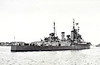 1944 to 1958 - ONTARIO (C53) - Minotaur Class Light Cruiser - 11130 tons - 169.3 x 19.0 - 1944 Harland & Wolff, Belfast - 9x6in., 10x4in., 22x40mm, 6TT - 32 knots - 07/44 to RCN on completion, 05/45 British Pacific Fleet, 11/45 Canadian Pacific Fleet, 10/58 decommissioned, 11/60 sold for breaking.