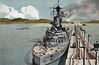 1920 to 1951 - ALMIRANTE LATORRE - Dreadnought Battleship - 25000 tons - 191.0 x 28.2 - 1915 Armstrong Whitworth Ltd., Elswick - 10x356mm, 6x152mm, 2x76mm, 4TT - 23 knots - 1915 completed as HMS CANADA, 101/5 4th Battle Sqdn, Grand Fleet, 31/05/16 Battle of Jutland, 03/19 to Reserve, 04/20 resold to Chile as ALMIRANTE LATORRE, 1929 to 1931 refit and modernisation at HM Dockyard, Devonport, 09/31 mutiny, 09/51 decommisioned, fuel storage hulk, 02/59 sold for breaking - seen here in the Pedro Miguel Locks, Panama Canal.