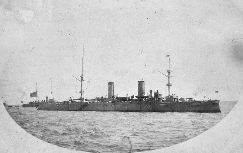 1898 to 1937 - HAI CHI - Protected Cruiser - 4514 tons - 1898 Armstrong Whitworth & Co., Elswick - 2x8in, 2x4.7in., 5TT - 24 knots - 1937 sunk as a blockship in the Yangtse River.