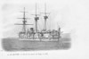 1877 to 1898 - FRIEDLAND - Central Battery Ironclad - 8850 tons - 101.1 x 17.7 - 1877 Arsenal de Lorient - 8x274mm, 8x139mm, 8x37mm - 13 knots - 1878 Mediterranean Sqdn., 07/1881 Bombardment of Sfax, 1887 to Reserve, 1893 recommissioned, 1898 decommissioned, 1902 sold for breaking.