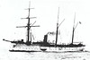 1890 to 1910 - BUSSARD - Bussard Class Cruiser - 1868 tons - 82.6 x 12.5 - 1890 Kaiserliche Werft Danzig - 8x105mm, 2TT - 13 knots - 08/1891 East Asiatic Sqdn., 1900 China, 04/04 East Africa, 03/10 decommissioned, 1913 sold for breaking.