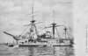 1879 to 1908 - BLUECHER - Bismarck Class Screw Corvette - 3332 tons - 82.5 x 13.7 - 1879 Norddeutsche Schiffbau, Kiel - 16x150mm - 12 knots - 1908 sold for breaking - posted April 23rd, 1906.