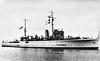 1930 to 1948 - HINDUSTAN - Folkestone Class Sllop - 1045 tons - 76.0 x 10.0 - 1930 Swan Hunter & Co., Wallsend - 2x4in. - 16 knots - 1939 Eastern Fleet, 04/45 Operation Dracula, Rangoon,  02/46 Royal Indian Navy Mutiny, 1948 to Pakistan as KARSAZ, 1960 decommisioned - seen  here on trials in 1930.