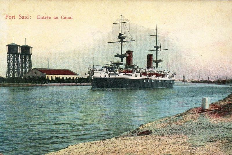 1898 to 1920 - CARLO ALBERTO - Vettor Pisani Class Armoured Cruiser - 13200 tons - 105.7 x 18.0 - 1898 Reuniti Arsenal di la Spezia - 12x152mm, 6x120mm, 2x75mm, 14x57mm, 6x37mm, 2TT - 18.5 knots - 1898 South America, 1899 Far East, 1900 Mediterranean Fleet, 1902/3 Marconi Radio test ship, 1907 Gunnery Training Ship, 1911 Italo-Turkish War, bombardment of Tripoli, 1912 Aegean Sea, 1914 Guardship, Venice, 1917 converted to troop transport, renamed ZENSON, 06/20 decommissioned, 1921 sold for breaking.