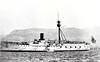 1891 to 1922 - ITSUKUSHIMA - Matsushima Class Protected Cruiser - 4347 tons - 99.8 x 15.4 - 1891 Société Nouvelle des Forges et Chantiers de la Méditerranée, La Seyne-sur-Mer, France - 1x320mm, 11x4.7in., 4TT - 16 knots - 17/09/1894 Battle of the Yalu River, damaged, 15 dead, 09/02/1895 Battle of Wei Hai Wei, 03/1898 reclassified as 2nd Class Cruiser, 02/01 Training Ship, 02/04 Blockade of Port Arthur, 27/05/05 Battle of Tsushima, 07/05 Invasion of Sakhalin, 1906 Training Ship, 08/12 reclassified as 2nd Class Coast Defence Vessel, 1919 Submarine Tender, 09/22 decommissioned, 1926 broken up.