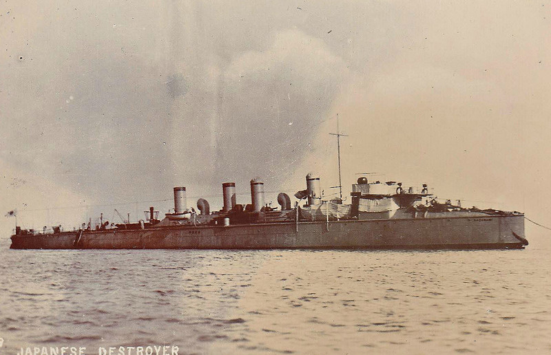 1902 to 1922 - SHIRAKUMO - Shirakumo Class Destroyer - 428 tons - 67.5 x 6.3 - 1902 Thornycroft & Co., Woolston - 1x76mm, 5x57mm, 2TT - 31 knots - 04/22 decommisioned - seen here on trials in UK before fitting of guns.