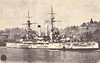 1897 to 1904 - YASHIMA - Fuji Class Pre-Dreadnought Battleship - 12230 tons - 125.6 x 22.3 - 1897 Armstrong Whitworth Ltd., Elswick - 4x305mm, 10x152mm, 20x76mm, 5TT - 18 knots - 09/02/04 Battle of Port Arthur, 15/05/04 struck a mine off Port Arthur whilst trying to assist HATSUSE, also mined, towed to Elliott Islands, capsized and sank off Encounter Rock.