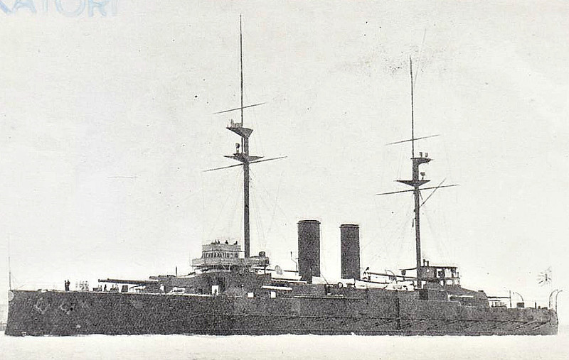 1906 to 1923 - KATORI - Katori Class Battleship - 15950 tons - 128.2 x 23.8 - 1906 Vickers Ltd., Barrow-in-Furness - 4x305mm, 4x254mm, 12x152mm, 6x76mm, 5TT - 18.5 knots - 1914 Occupation of German Pacific Colonies, 1918 Siberian Intervention, 1921 Royal Tour of Europe, 09/23 decommissioned, 1924 sold for breaking.