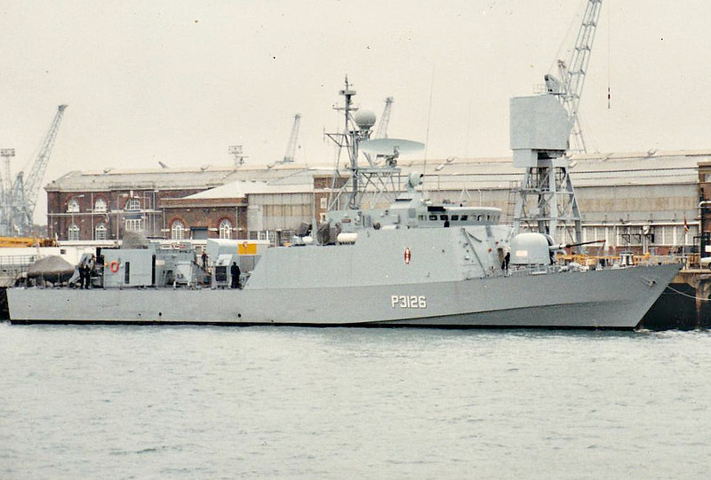 1987 to DATE - NYAYO (P3126) - Nyayo Class Fast Attack Craft - 430 tons - 56.7 x 8.2 - 1987 Vosper Thornycroft, Portsmouth - 1x76mm, 3x30mm, 2x20mm, 4xOtomat SSM - 40 knots - 2011 refit by Finncantieri, Muggiano, missiles removed - still in service