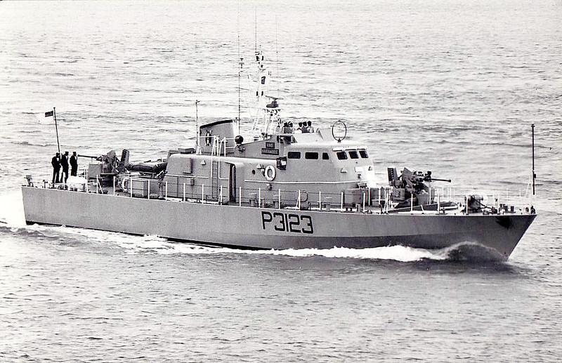 1975 to 2002 - HARAMBEE (P3123) - Fast Attack Craft - 145 tons - 32.6 x 6.1 - 1975 Brooke Marine, Lowestoft - 2x20mm, SSM4 Gabriel II - 25 knots - 2002 decommissioned.