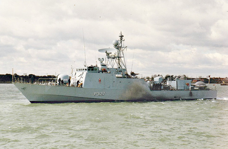 1987 to DATE - UMOJA (P3127) - Nyayo Class Fast Attack Craft - 430 tons - 56.7 x 8.2 - 1987 Vosper Thornycroft, Portsmouth - 1x76mm, 3x30mm, 2x20mm, 4xOtomat SSM - 40 knots - 2011 refit by Finncantieri, Muggiano, missiles removed - still in service.
