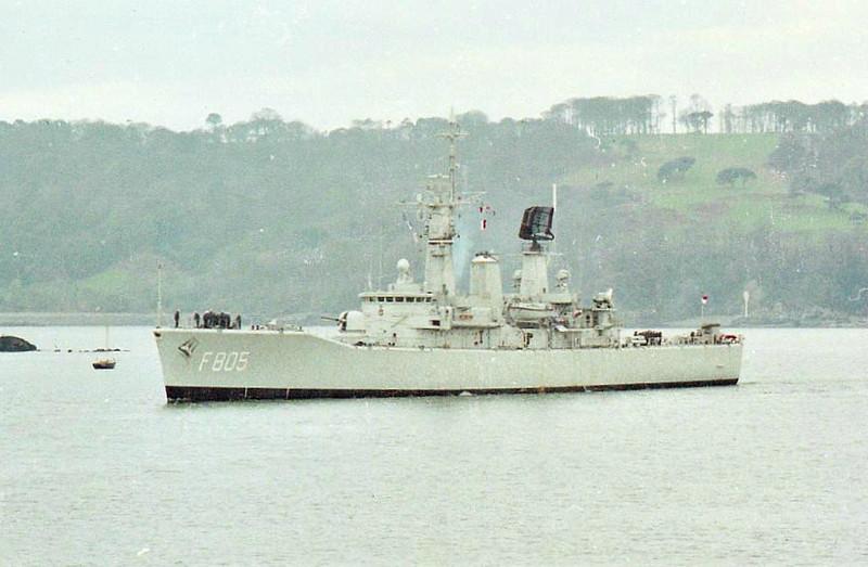 1967 to 1986 - VAN NES (F805) - Van Speijk Class Friagte - 2850 tons - 113.4 x 12.5 - 1967 Royal Schelde Dockyard - 2x4.5in., 2x4 Seacat SAM, 1x3 Limbo ASM, 1a/c - 28.5 knots - 1986 sold to Indonesia, renamed OSWALD SIAHAAN (354) - still in service.