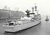1986 to 2005 - JACOB VAN HEEMSKERK (F812) - Jacob van Heemskerk Class Frigate - 3750 tons - 130.0 x 14.5 - 1986 Royal Schelde Dockyard - Harpoon SSM, RIM66 SAM, Sea Sparrow SAM, 1x30mmCIWS, 2x20mm - 30 knots - 2005 to Chile as ALMIRANTE LATORRE (FFG14) - still in service - seen here in the River Thames, 05/86.