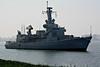 1995 to DATE - VAN SPEIJK (F828) - 'Karel Doorman' Class Multi Purpose frigate - 3373 tons - 1x76mm, 1x20mm, Sea Sparrow, Harpoon, Goalkeeper CIWS, 1 helicopter - 29 knots - Calandkanaal, 21/04/09.
