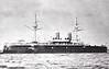 1890 to 1917 - IMPERATOR ALEKSANDR II - Imperator Aleksandr II Class Battleship - 9748 tons - 105.6 x 20.4 - 1890 New Admiralty Shipyard, St Petersburg - 2x12in., 8x6in., 10x47mm, 8x37mm, 6TT - 14 knots - 1904 Artillery Training Ship, 05/17 renamed ZARYA SVOBODY, 08/22 sold for breaking - seen here in 1890.