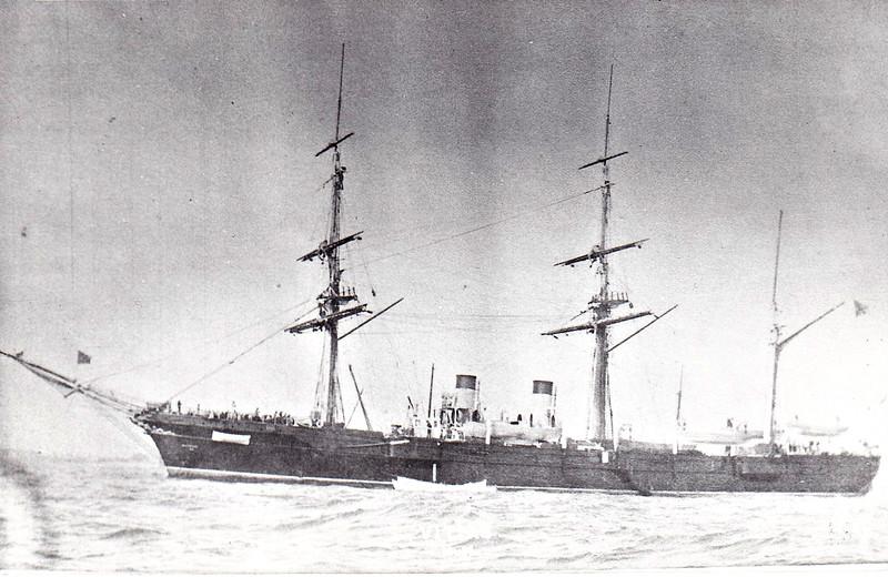 1886 to 1893 - VITIAZ - Vitiaz Class Screw Corvette - 3537 tons - 79.4 x 13.7 - 1886 Galerny Island Shipyard, St Petersburg - 4x152mm,  4x87mm, 2x47mm, 6x37mm, 1TT - 11.5 knots - 1886 Pacific Fleet, 10/05/1893 wrecked off Port Lazarev.