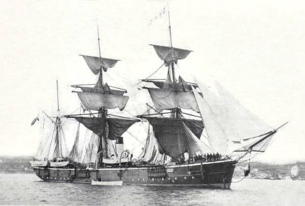 1880 to ???? - VESTNYK - Strelok Class Sloop - 63.0 - 3x4in. - 8 knots - no further infromation - seen here in 1886.