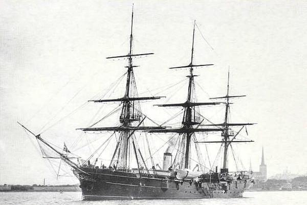 1898 - VERNY (VERNIJ??) - 3 masted training ship - no details known.