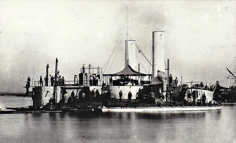 1874 to 1903 - NOVOGOROD - Novgorod Circular Ironclad Monitor - 2671 tons - 30.8m diameter - 1874 Nikolayev Shipyard, St Petersburg - 2x11in., 16x37mm - 7 knots - 1877 Russo-Turkish War, Danube Flotilla, 1892 Coast Defence Ship, 1903 storeship, 1912 broken up.