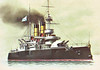 1892 to 1918 - DVIENADSAT APOSTLOV - Barbette Battleship - 8348 tons - 104.2 x 18.3 - 1892 Nikolayev Shipyard - 4x305mm, 4x152mm, 12x47mm, 6TT - 15.5 knots - 1890's domed shields fitted over main armament, 1911 decommisioned, stationary training ship, 08/14 Depot Ship, 1918 captured by Germans, surrendered to Allies, 1920 accomodation ship, 1931 broken up.