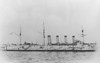 1900 to 1922 - GROMOBOI - Armoured Cruiser - 12455 tons - 146.6 x 20.9 - 1900 Baltic Shipyard, St Petersburg - 4x203mm, 16x152mm, 24x75mm, 12x47mm, 18x37mm, 4TT - 19 knots - 1901 Pacific Fleet, Vladivostok Cruiser Sqdn., 14/08/04 Battle off Ulsan, badly damaged, 87 dead, 1905 Baltic Fleet, 1914 converted to Fast Minelayer, 1918 to Reserve, 07/22 sold for breaking, ran aground off Liepaja en toute to German breakers, broken up in situ - seen here in 1901.
