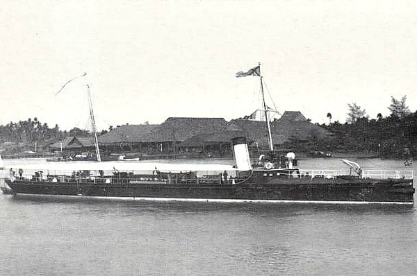 1893 to 1914 - GAIDAMAK - Kazarski Class Torpedo Gunboat - 411 tons - 60.0 x 7.0 - 1893 Schiffs Schichau, Elbing - 6x3pdr, 2TT - 21 knots - 1914 broken up - seen here when new.