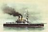 1889 to 1907 - TCHESMA - Ekaterina II Class Battleship - 113296 tons - 103.4 x 21.0 - 1889 Russian Steam Navigation Co., Sevastopol - 6x305mm, 7x152mm, 8x47mm, 4x37mm, 4TT - 13.5 knots - 1889 Black Sea Fleet, 08/07 decommisioned, refitted as trials ship for armour plate, 04/12 renamed STRICKEN VESSEL No.4, 1920's scrapped.