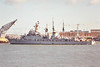 1986 to DATE - CHUNG NAM (FF953) - Ulsan Class ASW Frigate - 2350 tons - 103.7 x 12.5 - 1986 Busan Korea Shipbuilding - 2x76mm, 3x2 40mm CIWS, 8xHarpoon SSM, 6TT - 34 knots - still in service - seen here in 11/91.