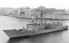 1994 to DATE - NAVARRA (F85) - Santa Maria Class Frigate - 4177 tons - 138.8 x 14.3 - 1994 Astilleros Bazan, Ferrol - 1x76mm, 1xHarpoon SSM, 1xSM1 SAM, 1x20mm CIWS, 3ASW TT, 1 h/c - 30 knots - still in service.