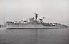 1953 to 1978 - NUEVA ESPARTA (D11) - Nueva Esparta Class Destroyer - 3670 tons - 123.0 x 13.0 - 1953 Vickers Ltd., Barrow - 6x4,5in., 10x40mm, 2TT - 34 knots - Leader of First Destroyer Flotilla - 1978 decommisioned, sunk as target - seen here on trials 10/54.