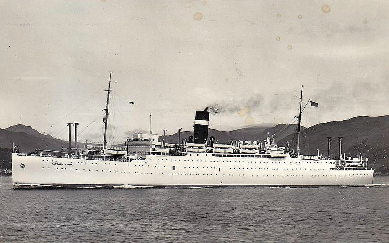 EMPIRE BRENT - Troopship - 13475GRT/9880DWT - 160.2 x 20.2 - 1925 Fairfield Shipbuilding & Enginerring Co., No.601 as LETITIA (1925-46) - 1952 CAPTAIN COOK - 04/60 broken up at Inverkeithing.