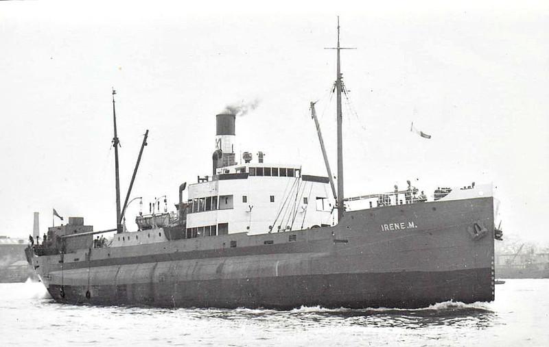 EMPIRE CONDERTON - Cargo - 1457GRT - 73.1 x 11.0 - 1912 Blyth Shipbuilding & Drydock Co., Cowpen Quay, No.168 as THYRA MENIER (1912-17) - LUIS PIDAL (1917-25), BELLINI (1925-28), BOLLAN (1928-36),  LINA FISSER (1936-45) - 1947 MARCHMONT, 1952 IRENE M - 07/57 broken up at Sorel - seen here as IRENE M (GBR).