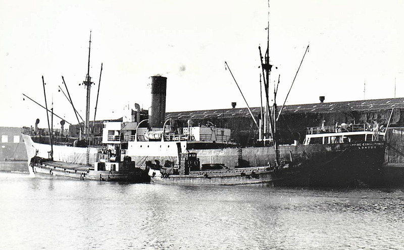 EMPIRE CONSISTENCE - Cargo - 1770GRT - 84.4 x 12.8 - 1927 Schiffs Seebeck, Wesermunde, No.464 as GANTER (1927-45) - 1951 DAGNY - 04/67 broken up at Bremen.