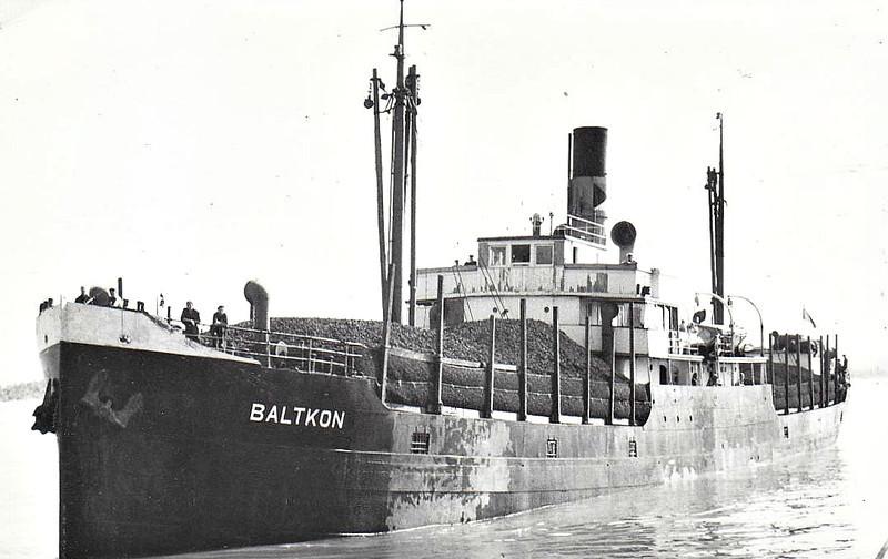 EMPIRE CONAVON - Cargo - 1544GRT - 77.0 x 12.0 - 1922 Nylands Verkstad, Oslo, No.261 as MINNA (1922-35) - BRITT (1935-45), LEBA (1945) - 1945 taken as a prize in Germany - 1946 EMPIRE CONAVON, 1947 BALTKON - 1959 broken up at Dunston.