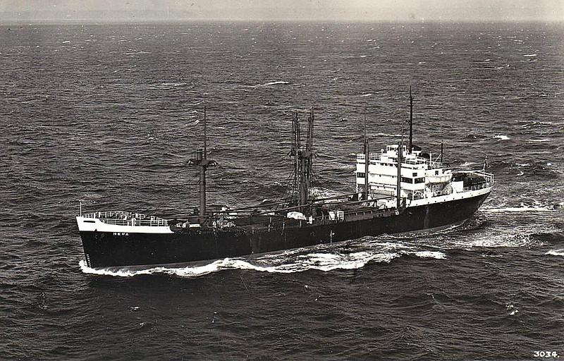 C1-M-AV1 - 1945 to 1947 - BEAVERHEAD - Cargo - 3805GRT/5032DWT - 103.2 x 15.2 - 1945 Kaiser Cargo Corpn., Richmond, No.63 - 1947 HERA, 1963 OMAR EXPRESS, 1967 converted to bulk cement carrier, 3617GRT, renamed CEMENTOS PONCE, 1976 VANESSA - 10/82 broken up at Vera Cruz - seen here as HERA (NLD).