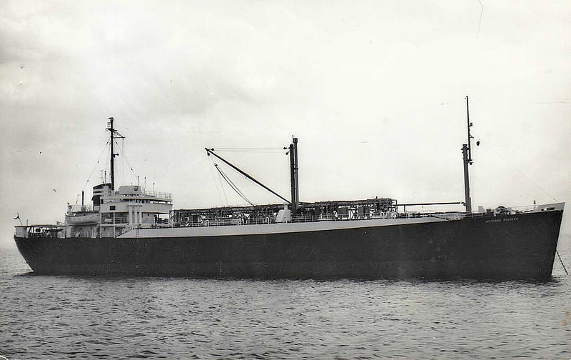 C1-M-AV1 - 1945 to 1946 - MARLINE HITCH - Cargo - 3805GRT/5032DWT - 103.2 x 15.2 - 1945 Walter Butler Shipbuilders, Duluth, No.344 - 1946 DON AURELIO, 1951 NORMARTI - 1958 converted to LNG Tanker, 5058GRT, renamed METHANE PIONEER, 1967 ARISTOTLE - 07/71 hulked at Recife, 1979 broken up - seen here as METHANE PIONEER (GBR).