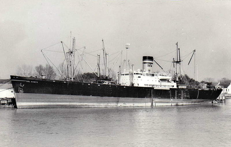 C1-A - 1942 to 1947 - CAPE ROMANO - Cargo - 6947GRT/6440DWT - 125.7 x 18.3 - 1942 Pennsylvania Shipbuilding Corpn., Beaumont, TX, No.256 - 1947 DEL CAMPO, 1969 OAKDALE - 10/69 broken up at Kaohsiung - seen here as DEL CAMPO (USA).