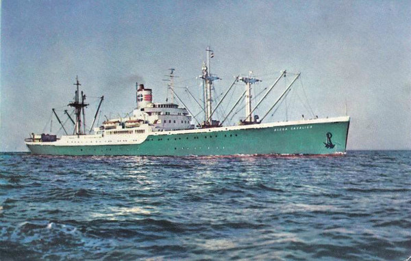 ALCOA CAVALIER - VC2-S-AP7 - Pass/Cargo - 8481GRT/9733DWT - 138.8 x 18.9 - 1947 Oregon Shipbuilding Corpn., Portland, No.001 - 1947 design modified to carry up to 60 passengers - 1963 returned to US Govt, to Reserve, 04/68 broken up in New Orleans.