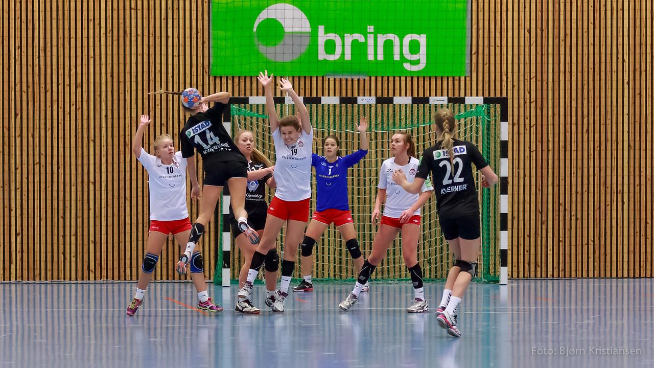 Bring serien i Tærudhallen, 14. Desember 2014. Jenter 16.   Skedsmo HK - Molde