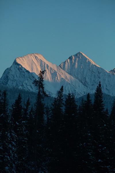 Last light, Kootenay National Park