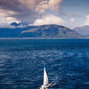 Sailing West coast of scotland from loch linnie towards loch leven and Glencoe