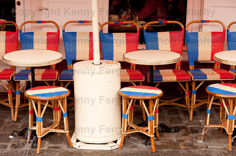 Seats in colur of French Flag