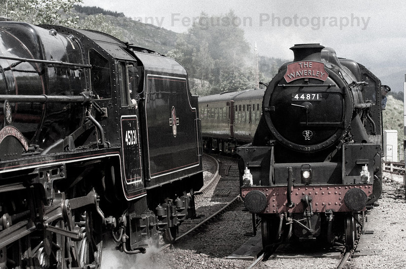 "Steam train travelling along the west Highland line made famous by the ""Harry Potter"" movies"