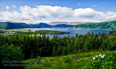 NEWFOUNDLAND - NORRIS POINT Norris Point and Bonne Bay with Tablelands in the background [tablelands_0243]