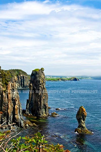 NEWFOUNDLAND - TRINITY BAY Sea stacks seen from the Skerwink Trail, Newfoundland. [skerwink_6931]