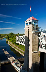 PETERBOROUGH, ONTARIO, CANADA Peterborough Lift Lock - view from above [liftlock_9756]