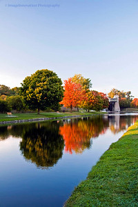 Lift lock and fall colors - image for photobook, postcard, calendar