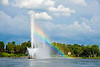 PETERBOROUGH, ONTARIO, CANADA Centennial Fountain rainbow, Little Lake [fountainrainbow_4489]