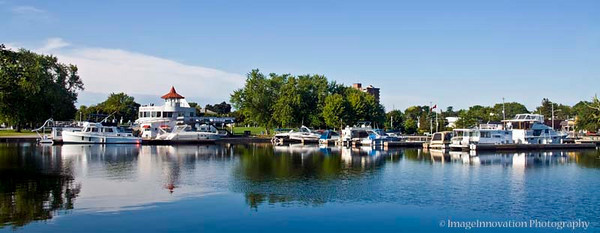 PETERBOROUGH, ONTARIO, CANADA Peterborough marina - panorama [marina_2674]
